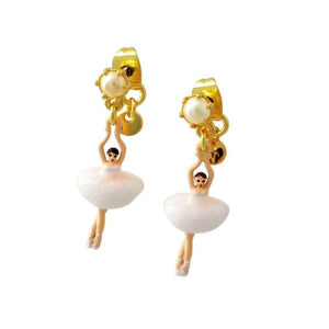 LES NÉRÉIDES Mini Ballerina And White Tutu Stud Earrings