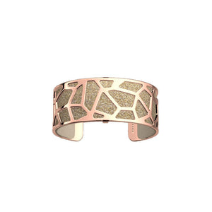LES GEORGETTES BY ALTESSE Girafe Bracelet 25mm, Rose Gold Finishing - Cream / Gold Glitter