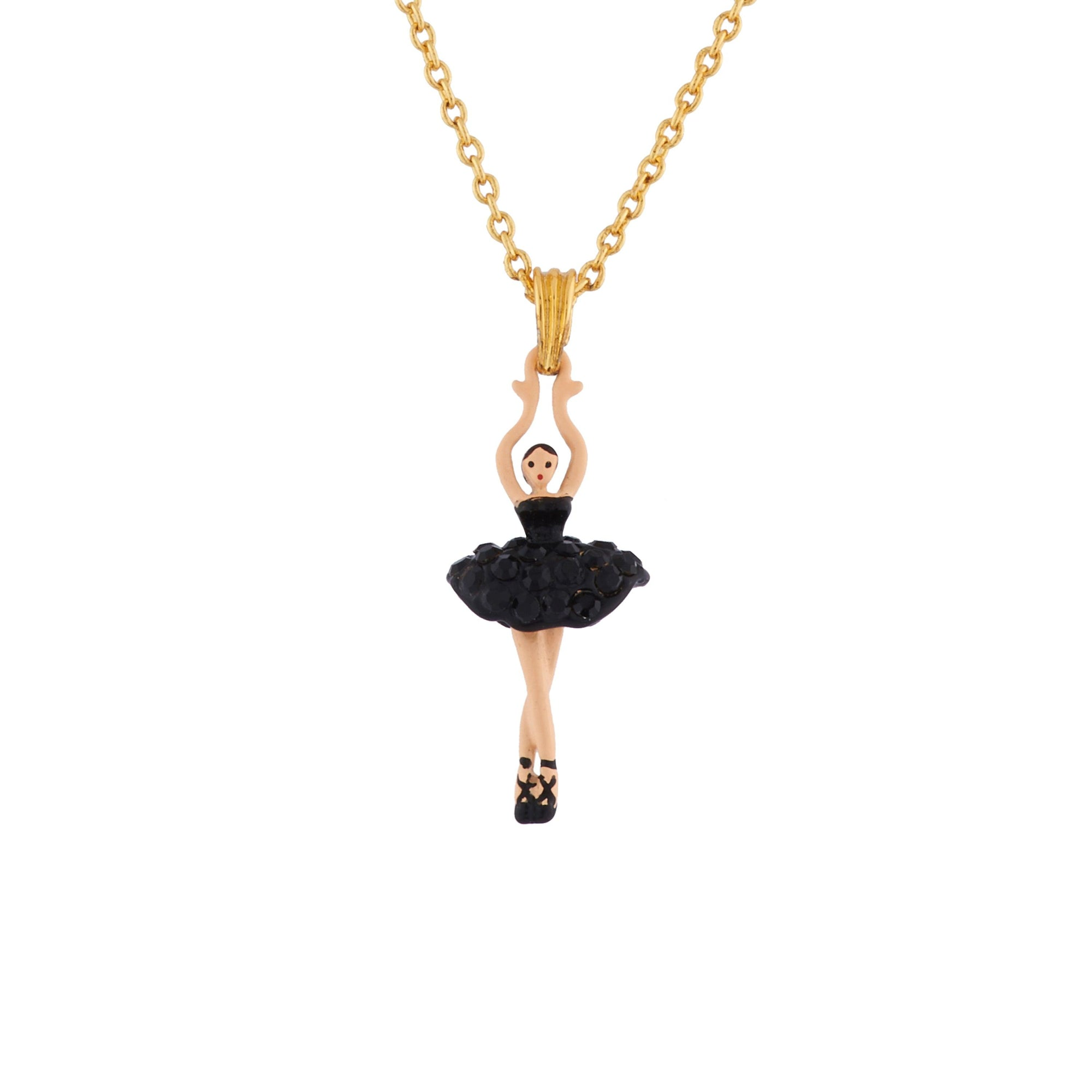 LES NÉRÉIDES Mini Ballerina And Black Crystals Tutu Necklace