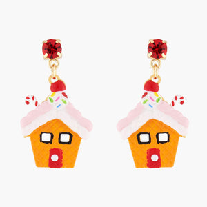 N2 BY LES NÉRÉIDES Gingerbread house stud earrings