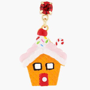N2 BY LES NÉRÉIDES Gingerbread house clip-on earrings