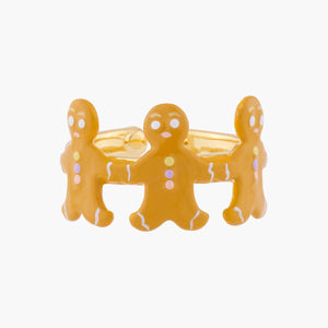 N2 BY LES NÉRÉIDES Gingerbread man adjustable ring