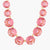 LES NÉRÉIDES La diamantine pink peach round stones long necklace