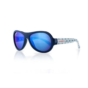SHADEZ Kids Sunglasses Designers Anchor Print Blue Junior: 3-7 years