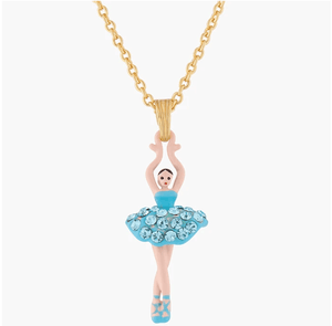 LES NÉRÉIDES Mini Ballerina And Aquamarine Crystals Tutu Necklace