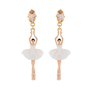 LES NÉRÉIDES White Ballerina Stud Earrings