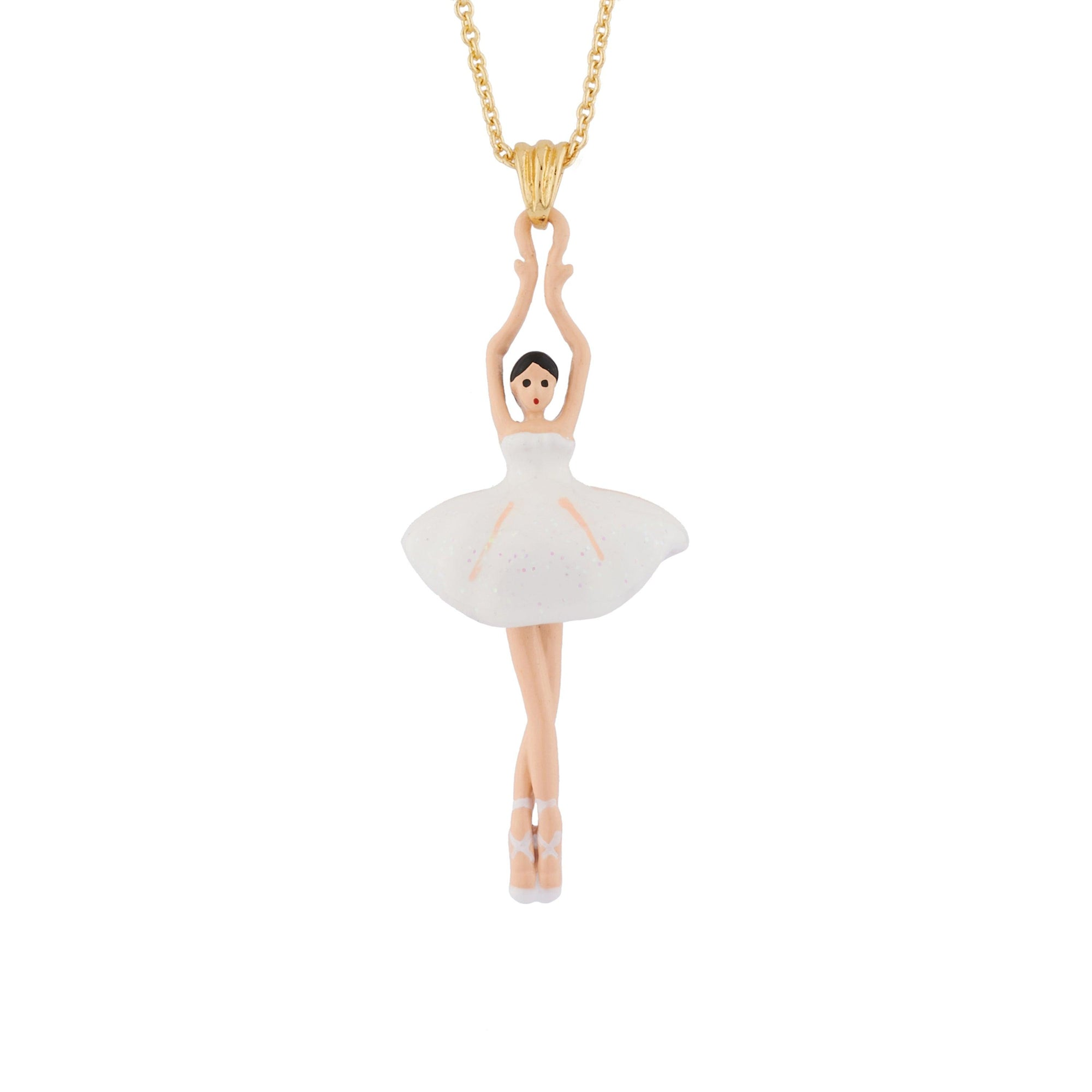 LES NÉRÉIDES Mini Ballerina And White Tutu Necklace