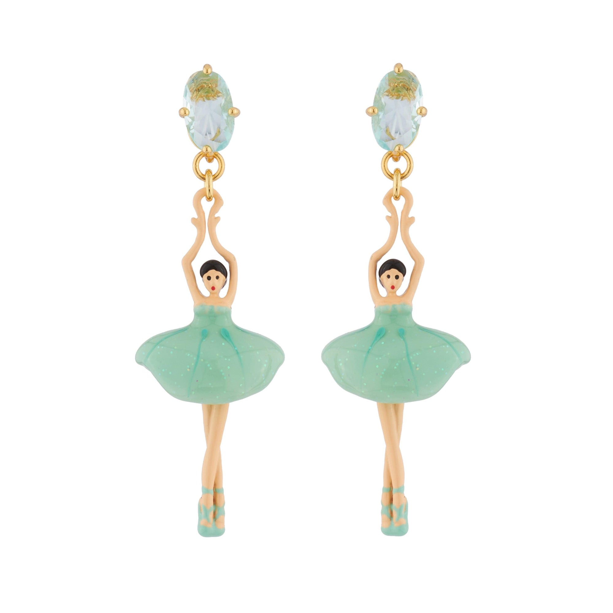 LES NÉRÉIDES Blue Ballerina Stud Earrings