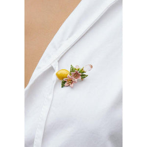 LES NÉRÉIDES Lemon And Flower Brooch
