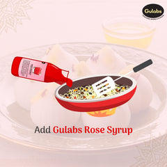 Step 4 of making modak using Gulabs Rose Syrup
