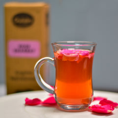Aromatic Rose Tea made with Gulabs Rose Sharbat