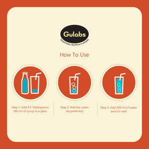 how to use Gulabs Pudina (Mint) sharbat  in water