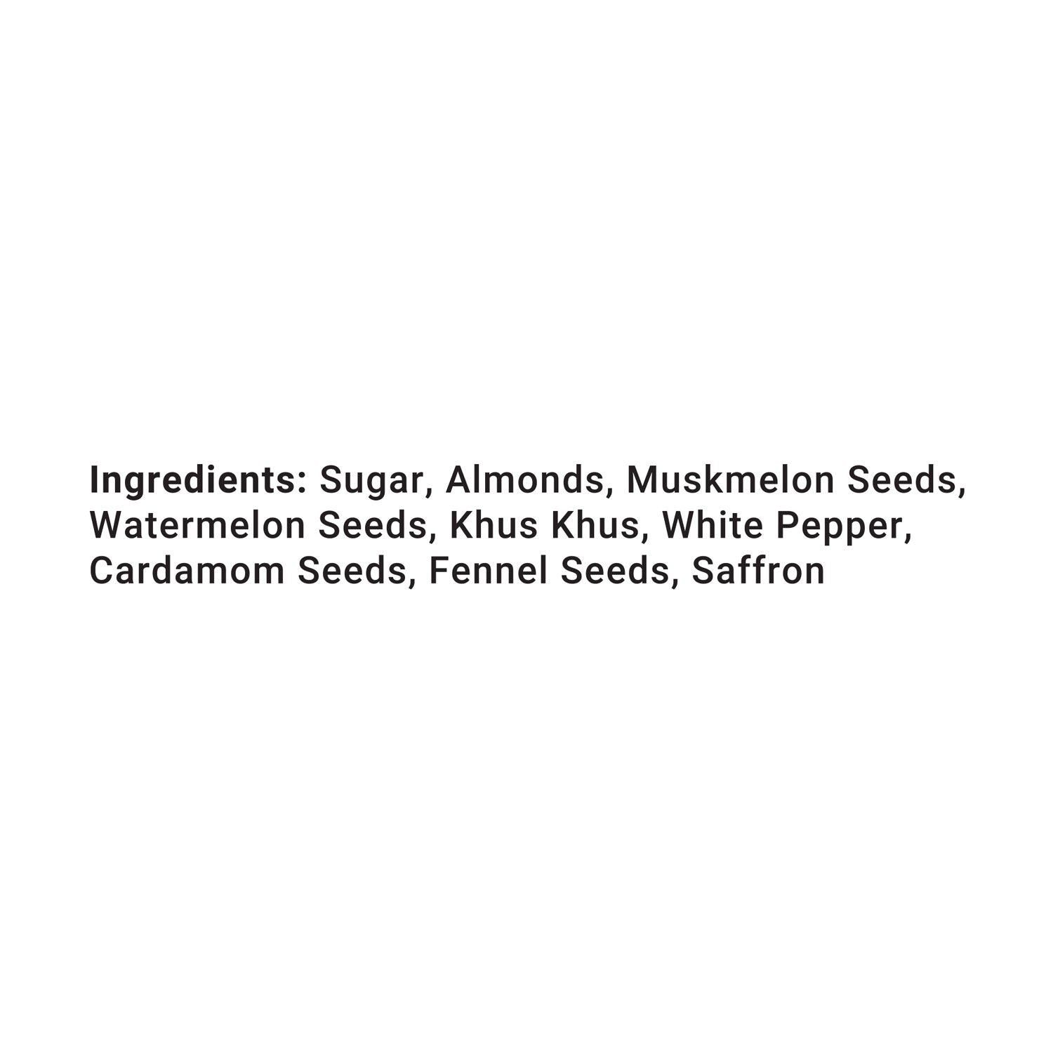 Thandai Instant drink ingredients list