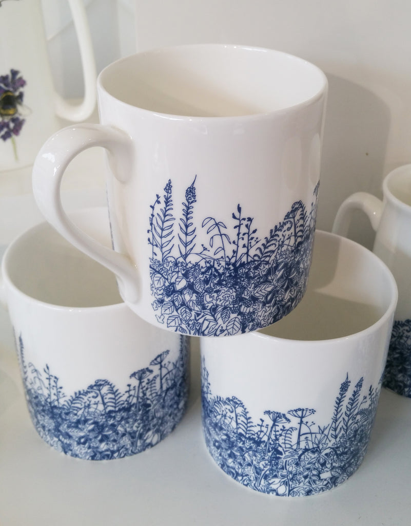 Ceramic Blue Hedgerow Mug By A Farmer's Daughter