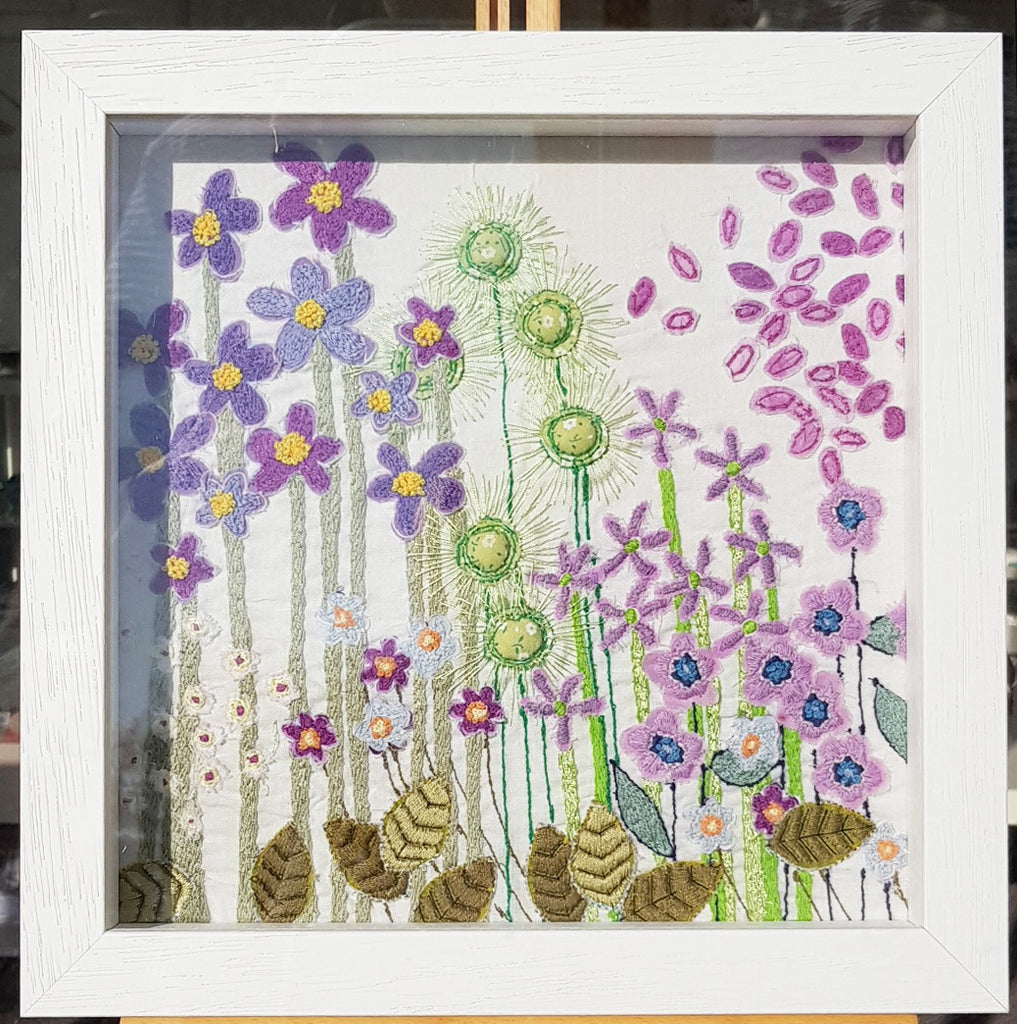 Framed Original Embroidery By Jo Sinclair S170JS003