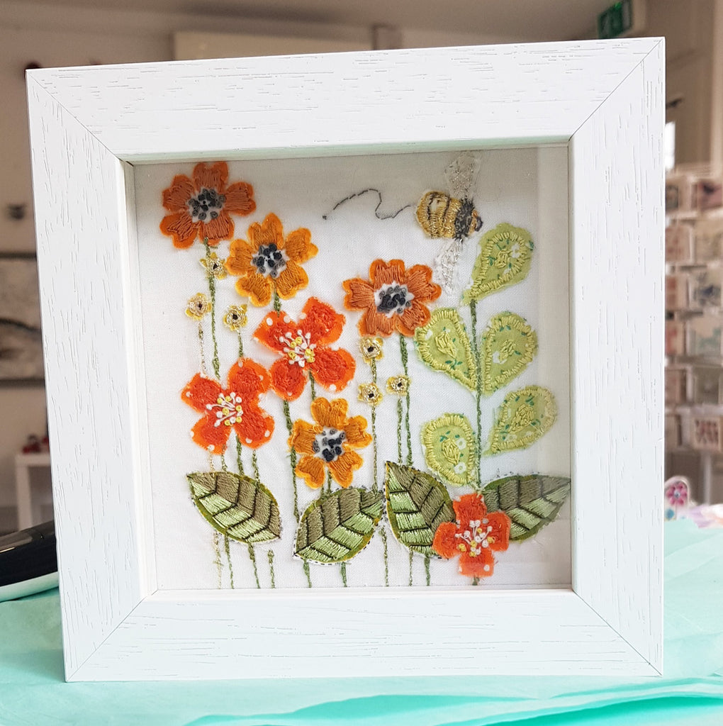 Framed Original Embroidery By Jo Sinclair S170JS004