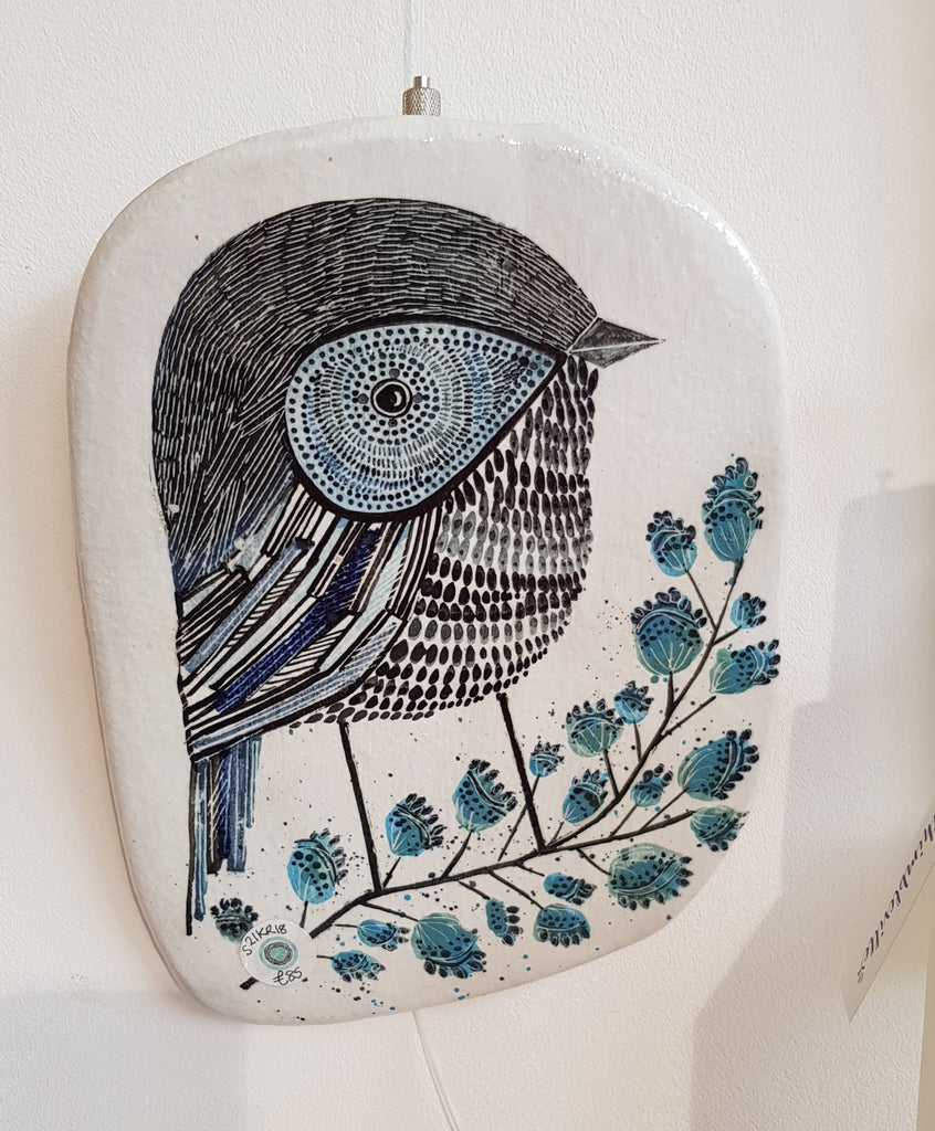 Karen Risby Ceramic Bird Plaque S21KR18