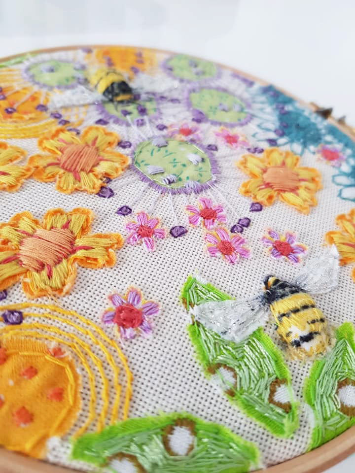 Original Embroidery By Jo Sinclair S170JS013