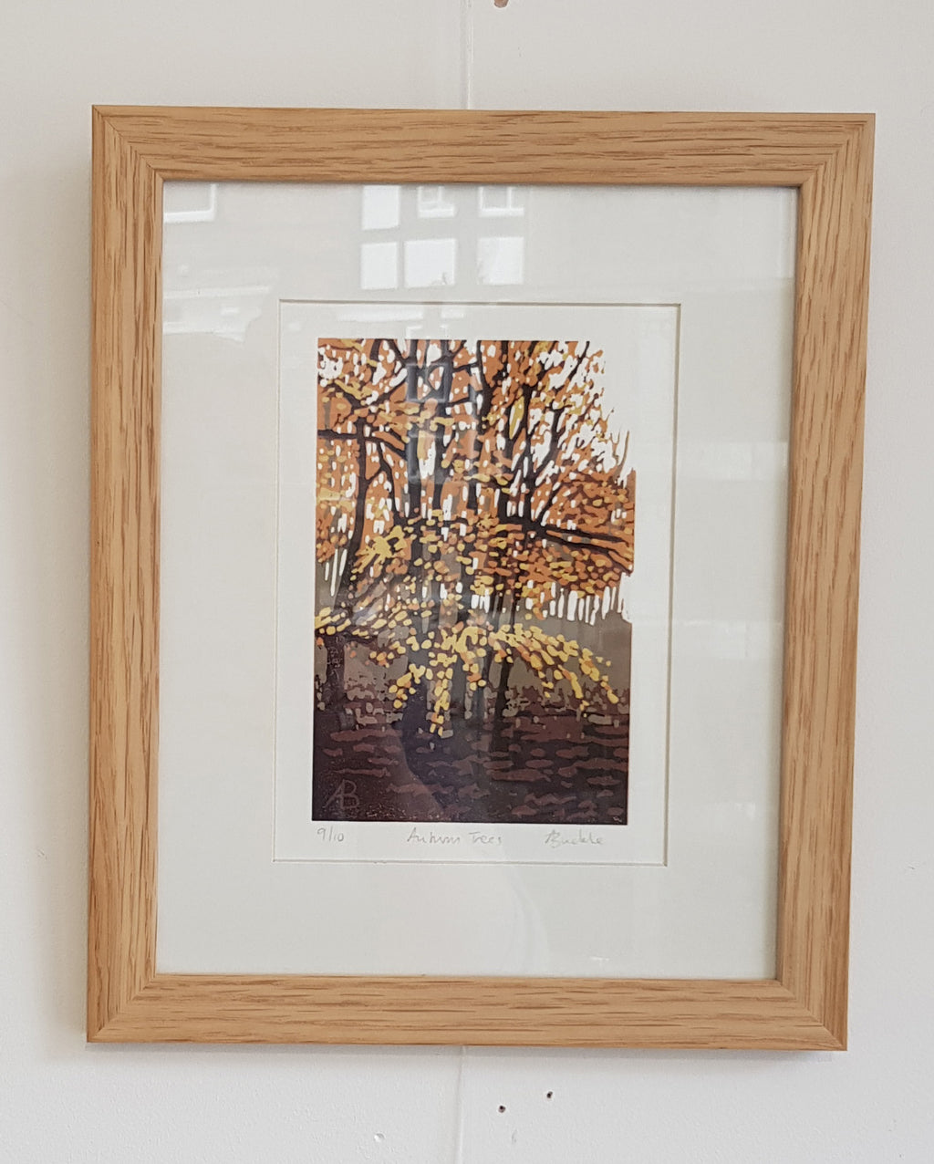 Framed Limited Edition Lino Print By Alexandra Buckle S180AB19