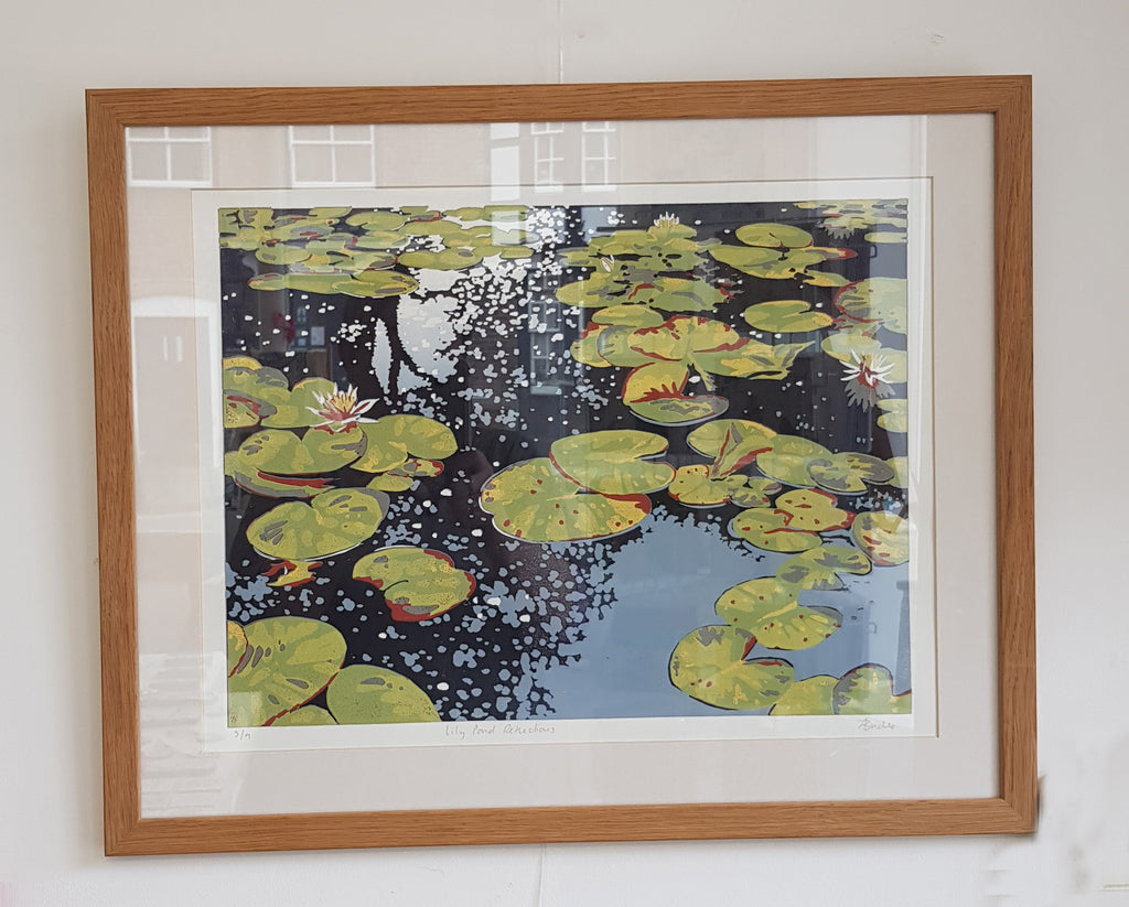 Framed Limited Edition Lino Print By Alexandra Buckle S180AB23