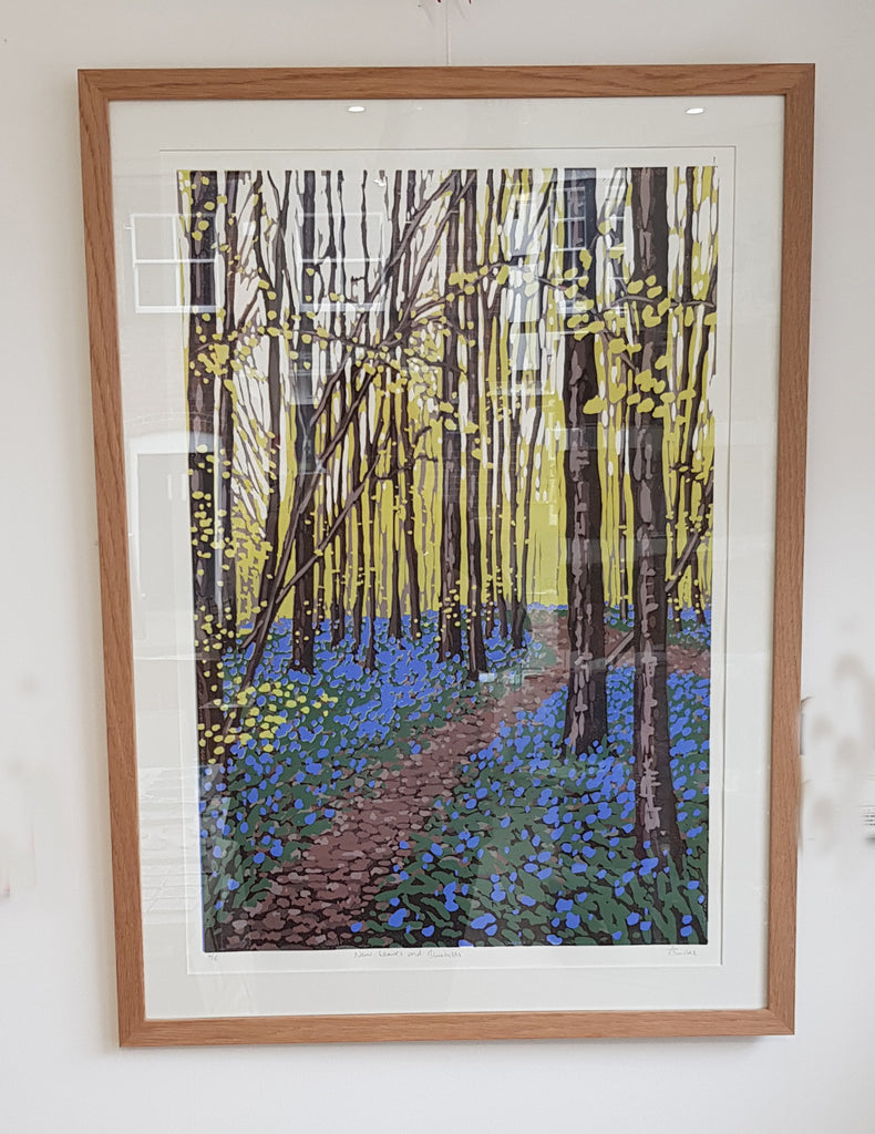 Framed Limited Edition Lino Print By Alexandra Buckle S180AB26