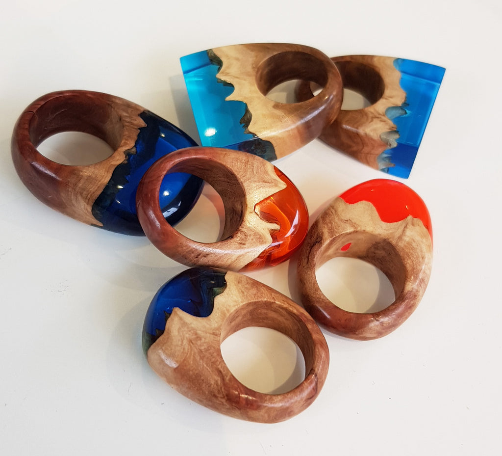 Handmade Resin and Wood Jewellery By Artful Resin S173AR5