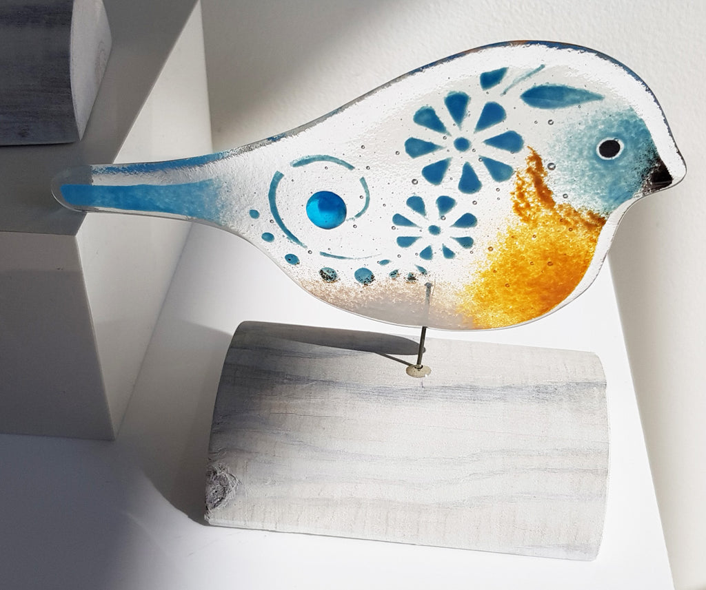 Fused Glass Bird by Fused Glass Design S138FGD22