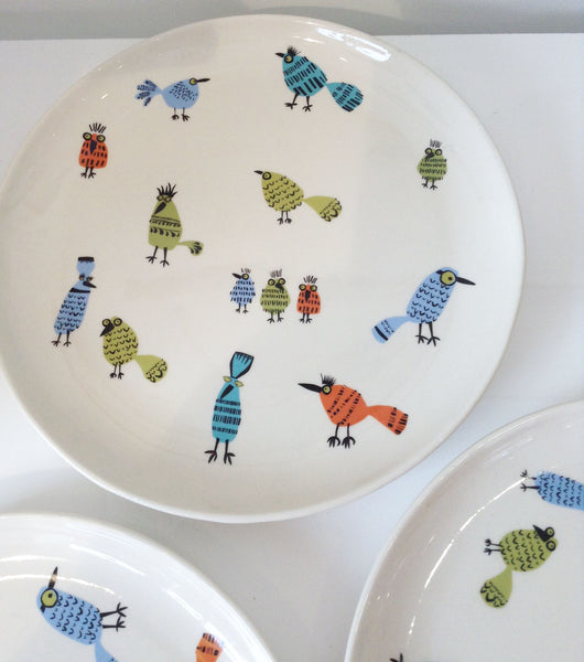 Ceramic Bird Plate by Hannah Turner W43HT8