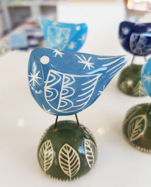 Handmade Ceramic Bird by Kath Cooper S100KC41