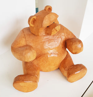 Wooden Bear with attitude by Keith Parker S98KP40