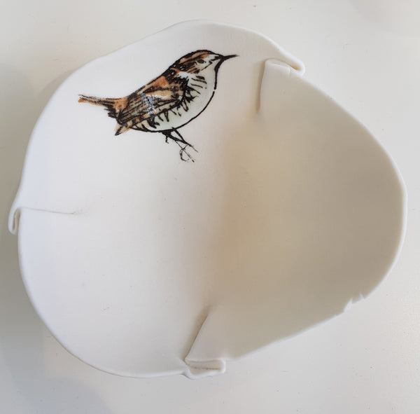 Ceramic Wren bowl by Martha's Grandad S97LJ34
