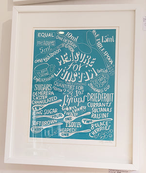 Framed Limited Edition Lino Print By Sally Castle