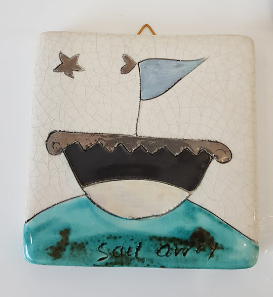 Handmade Ceramic Tile by Sophie Smith S38SS210