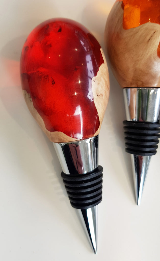 Handmade Resin and Wood Bottle Stopper By Artful Resin S173AR21