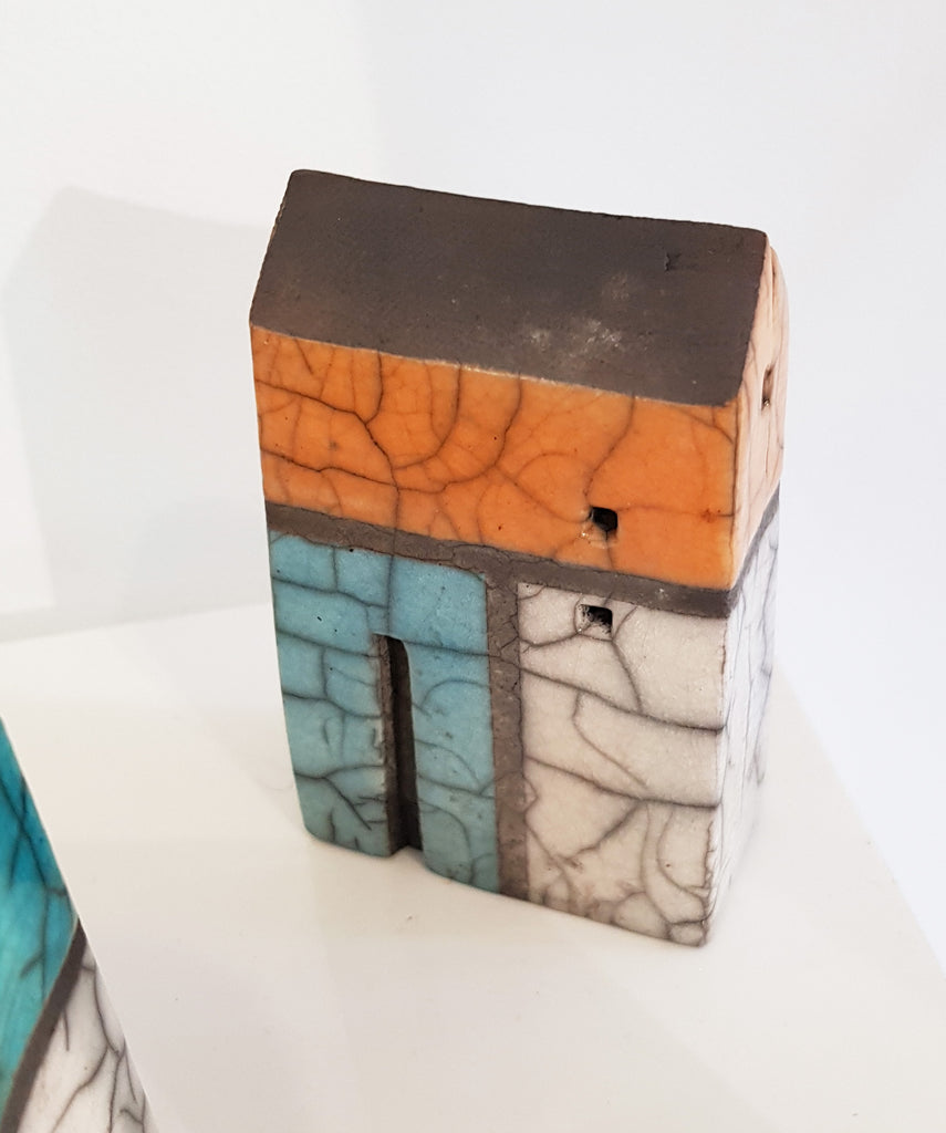 Raku Ceramic House by Andy Urwin S154AU37