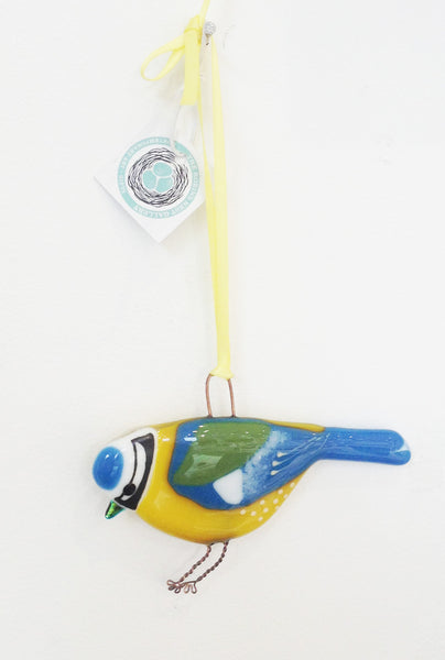 Hanging Blue Tit by Sarah Myatt