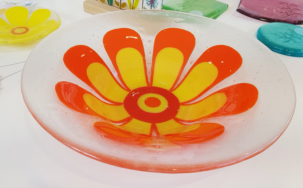 Glass Flower Bowl by Blue Shed Design S163BSD2