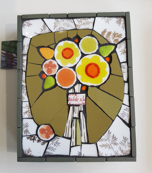 Handmade Mosaic Wall Hanging Panel by Box Of Frogs Mosaics S151BOF11