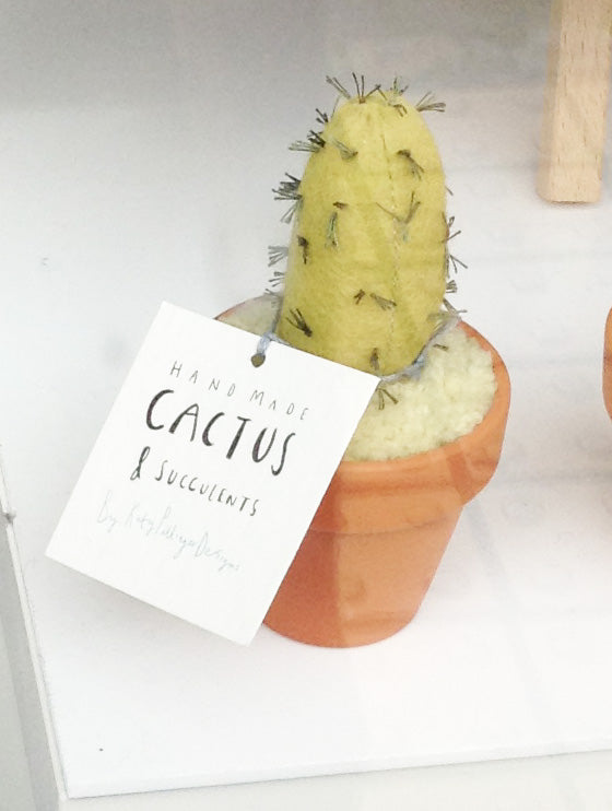 Fabric Cactus in terracotta pots by Katy Pillinger