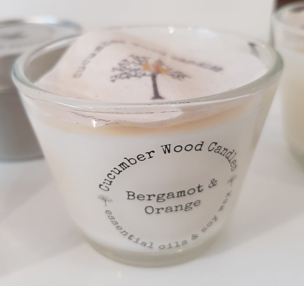 Bergamot and Orange Glass Candle S148RM3/S148RM15