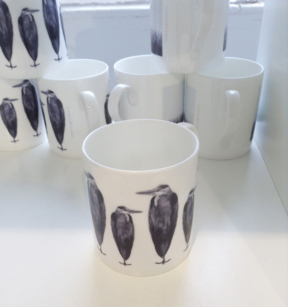 Heron Mug by Lomas and Lomas