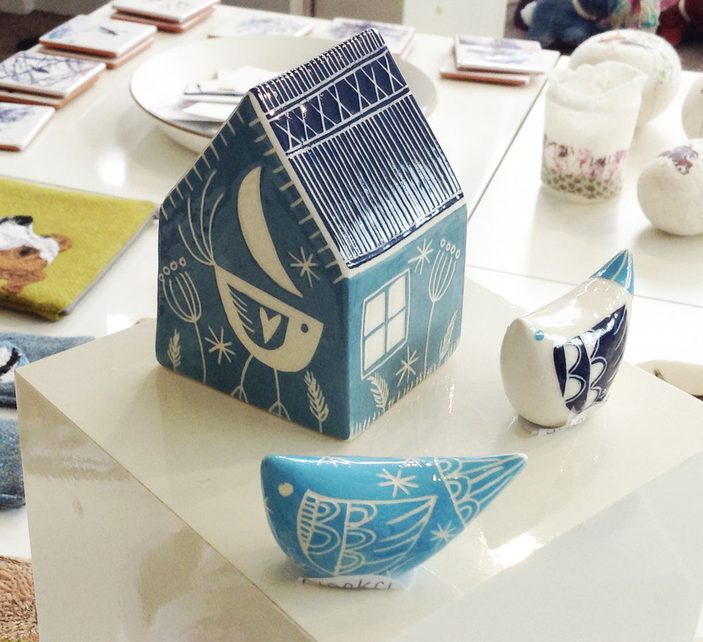 Handmade Ceramic House by Kath Cooper S100KC9
