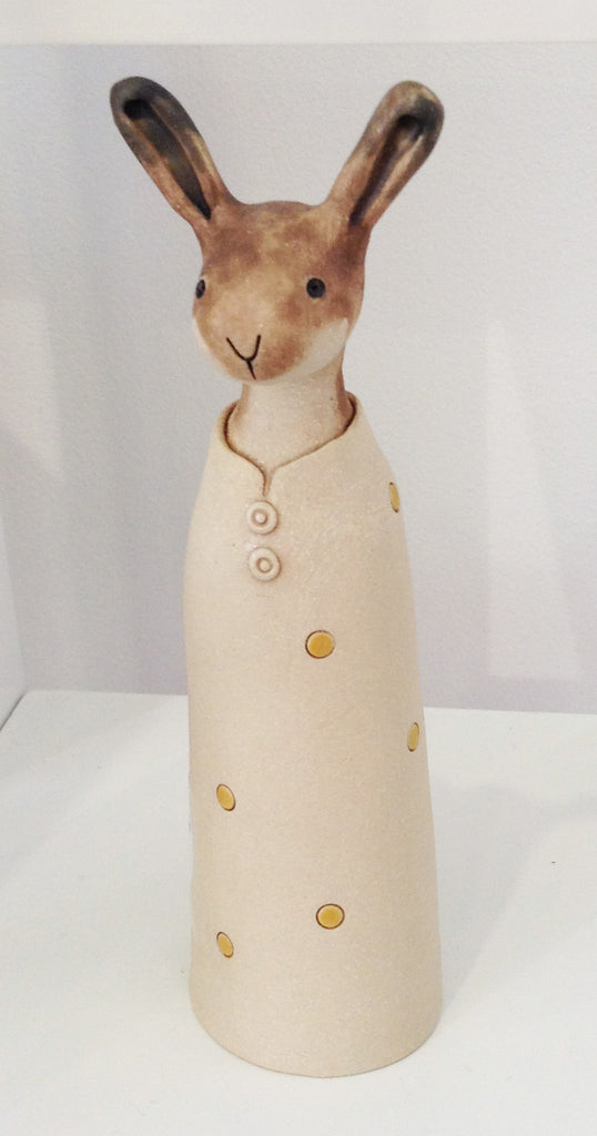 Handmade Ceramic Hare by Jo Lucksted S48JL49