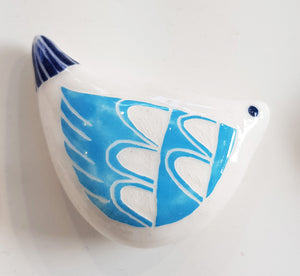 Handmade Ceramic Bird Pebble by Kath Cooper S100KC19