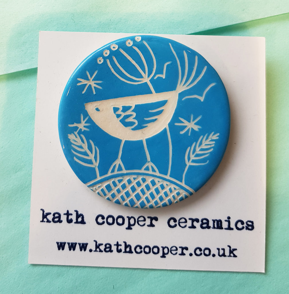 Handmade Ceramic Brooch by Kath Cooper S100KC16