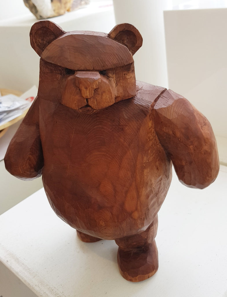Wooden Bear with attitude by Keith Parker S98KP33