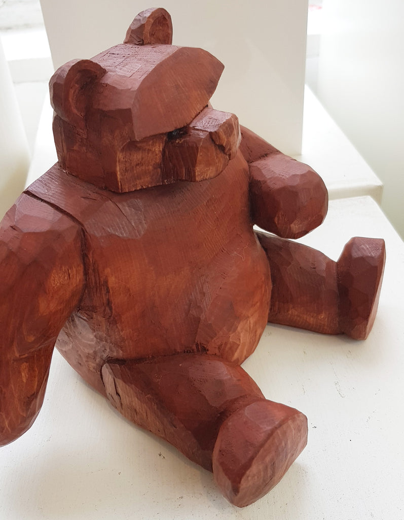 Wooden Bear with attitude by Keith Parker S98KP34