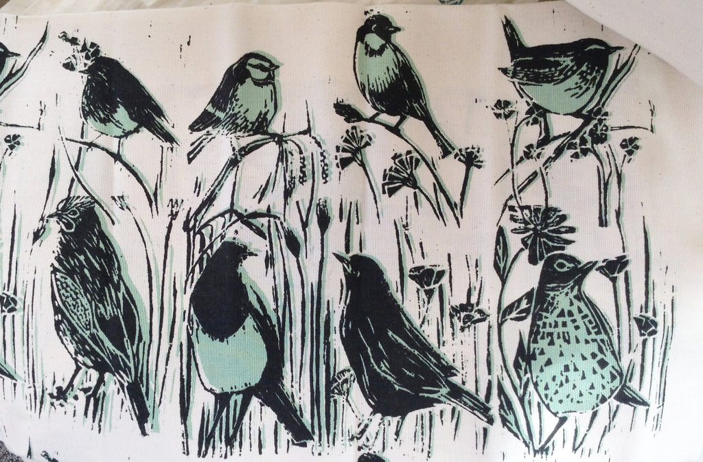 Lino Print Tea Towel By Lou Tonkin S106LT9