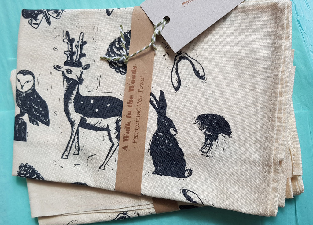 Hand Printed Tea Towel by Nell Smith S168NS6