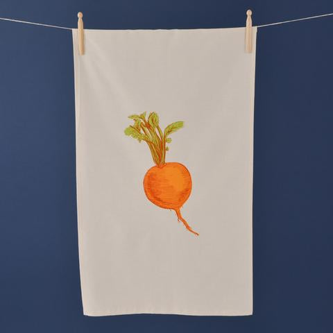Hand Screen Printed Tea Towel By Lottie Day